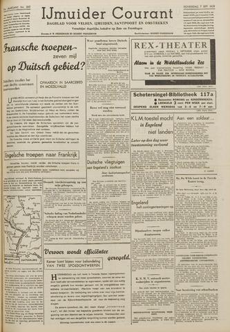 IJmuider Courant 1939-09-07