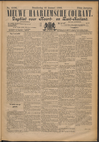 Nieuwe Haarlemsche Courant 1906-01-11