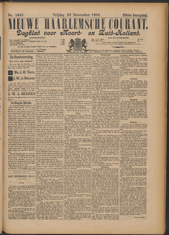 Nieuwe Haarlemsche Courant 1904-12-23