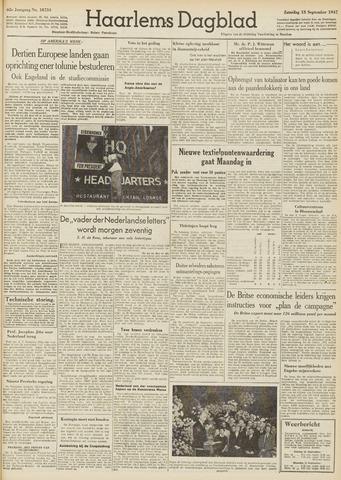 Haarlem's Dagblad 1947-09-13