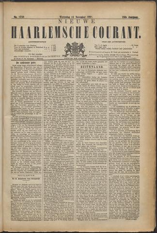 Nieuwe Haarlemsche Courant 1891-11-11