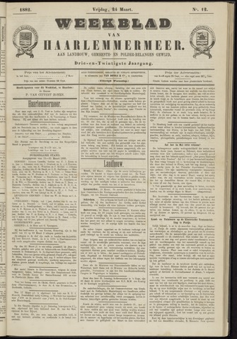 Weekblad van Haarlemmermeer 1882-03-24