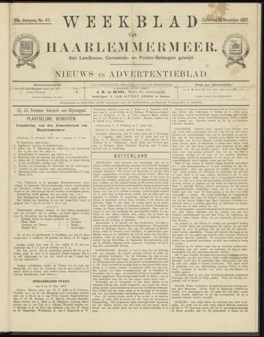 Weekblad van Haarlemmermeer 1887-11-19
