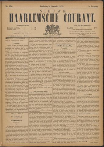Nieuwe Haarlemsche Courant 1878-12-26