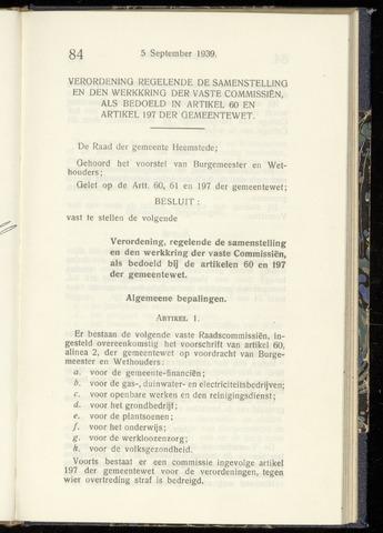 Raadsnotulen Heemstede 1939-09-05