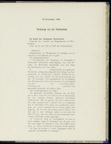 Raadsnotulen Heemstede 1909-12-30