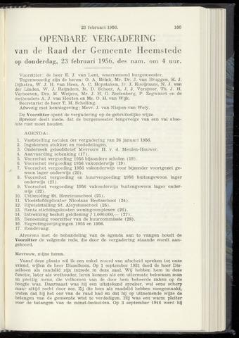 Raadsnotulen Heemstede 1956-02-23