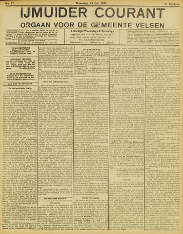 IJmuider Courant 1922-07-26