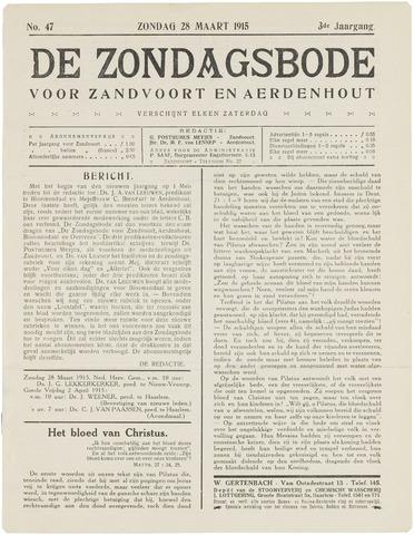 De Zondagsbode voor Zandvoort en Aerdenhout 1915-03-28