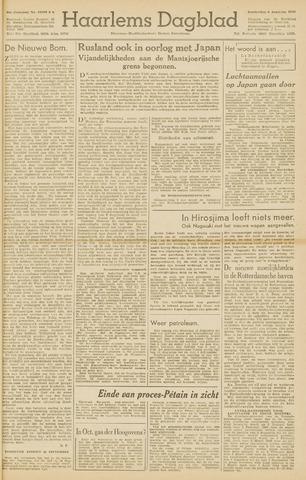Haarlem's Dagblad 1945-08-09