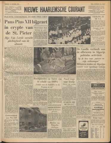 Nieuwe Haarlemsche Courant 1958-10-14