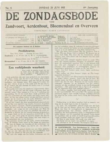 De Zondagsbode voor Zandvoort en Aerdenhout 1915-06-20