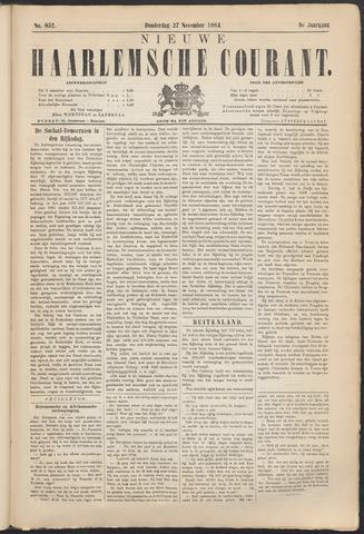 Nieuwe Haarlemsche Courant 1884-11-27