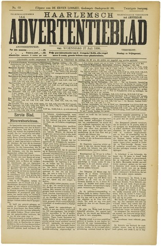 Haarlemsch Advertentieblad 1898-07-27