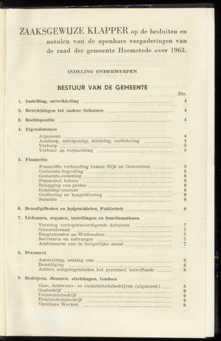Raadsnotulen Heemstede 1963-01-01