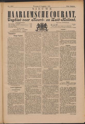 Nieuwe Haarlemsche Courant 1899-09-27