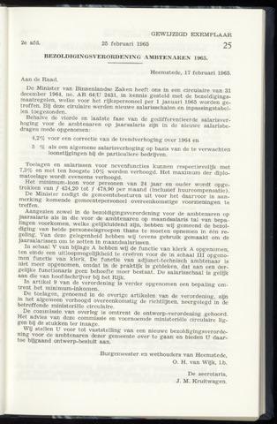 Raadsnotulen Heemstede 1965-02-25