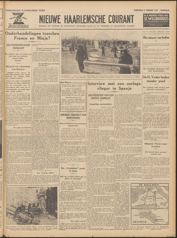 Nieuwe Haarlemsche Courant 1939-02-09