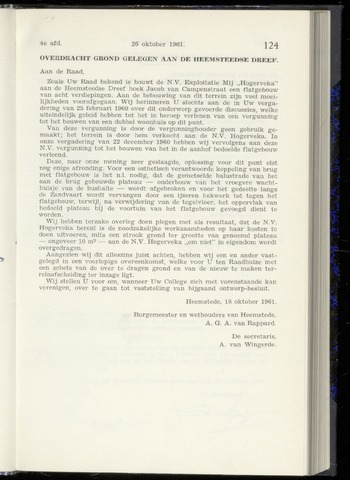 Raadsnotulen Heemstede 1961-10-26