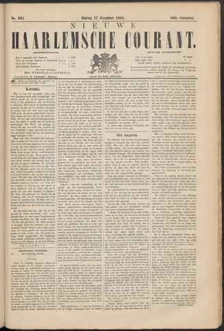 Nieuwe Haarlemsche Courant 1885-12-27