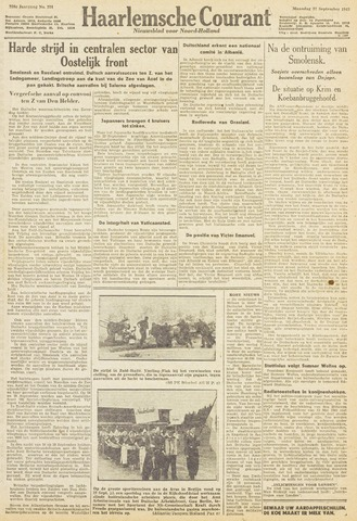 Haarlemsche Courant 1943-09-27