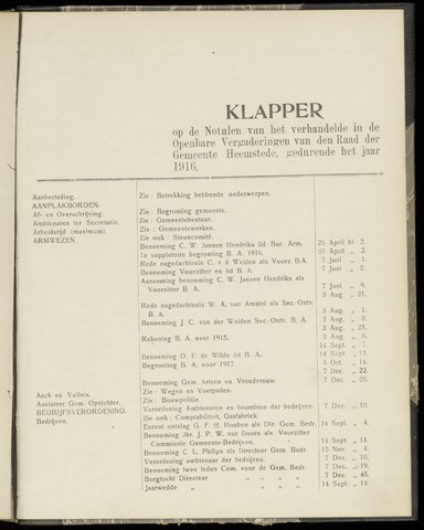 Raadsnotulen Heemstede 1916-01-01