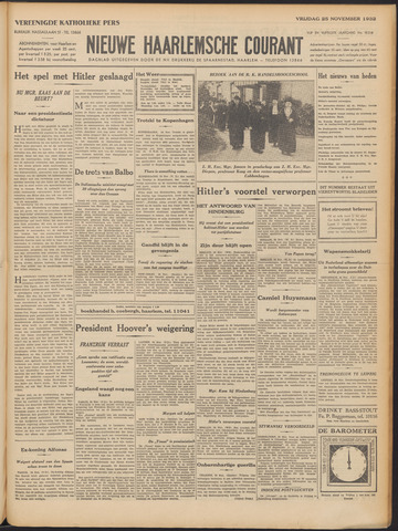 Nieuwe Haarlemsche Courant 1932-11-25