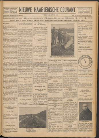 Nieuwe Haarlemsche Courant 1930-04-25