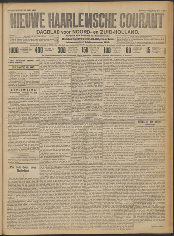 Nieuwe Haarlemsche Courant 1912-05-30