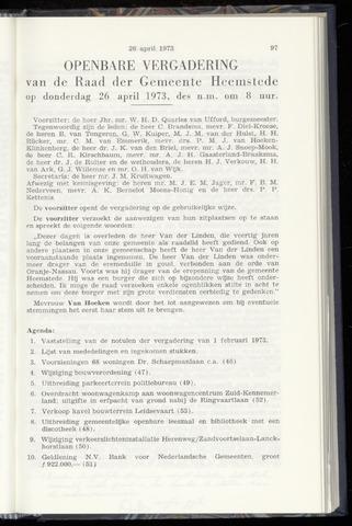 Raadsnotulen Heemstede 1973-04-26