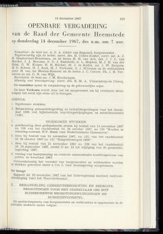 Raadsnotulen Heemstede 1967-12-14