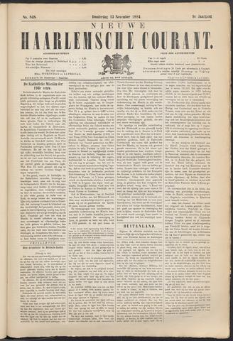 Nieuwe Haarlemsche Courant 1884-11-13