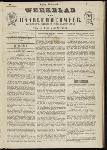 Weekblad van Haarlemmermeer 1883-01-19