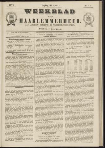 Weekblad van Haarlemmermeer 1872-04-26