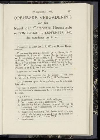 Raadsnotulen Heemstede 1946-09-19