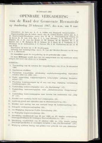Raadsnotulen Heemstede 1967-02-23