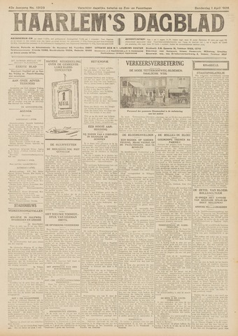 Haarlem's Dagblad 1926-04-01