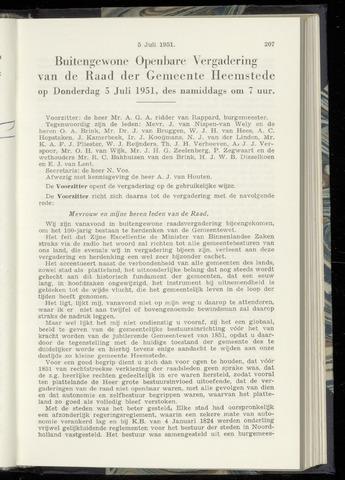 Raadsnotulen Heemstede 1951-07-05
