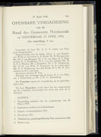 Raadsnotulen Heemstede 1950-04-27