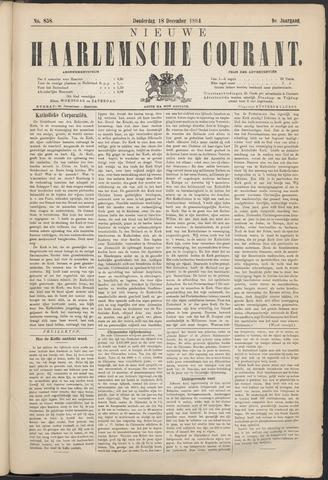 Nieuwe Haarlemsche Courant 1884-12-18