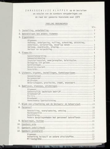 Raadsnotulen Heemstede 1979-01-01