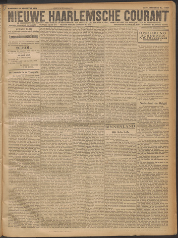 Nieuwe Haarlemsche Courant 1919-08-25