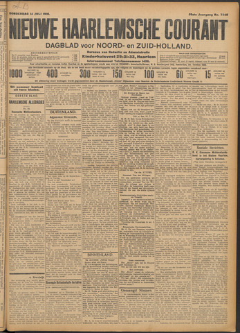 Nieuwe Haarlemsche Courant 1910-07-14