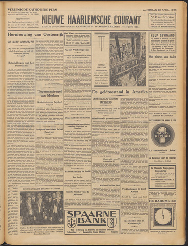 Nieuwe Haarlemsche Courant 1933-04-22