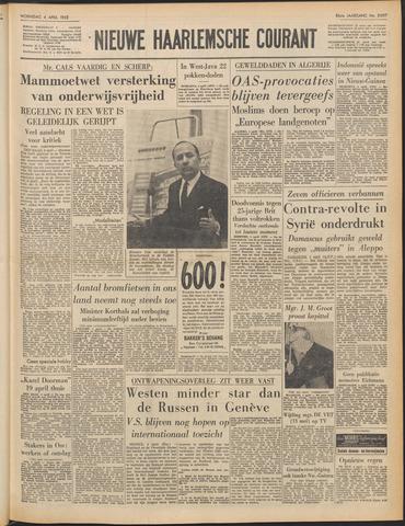 Nieuwe Haarlemsche Courant 1962-04-04