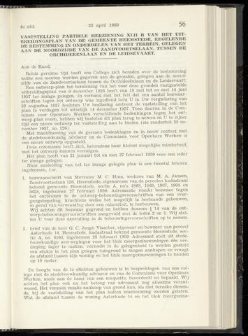 Raadsnotulen Heemstede 1959-04-23