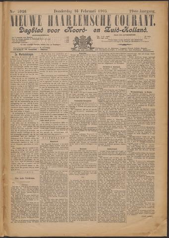 Nieuwe Haarlemsche Courant 1905-02-16