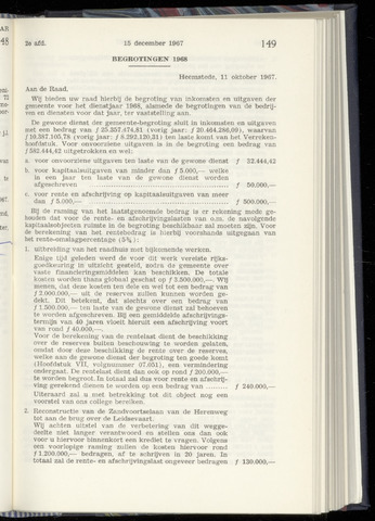 Raadsnotulen Heemstede 1967-12-15