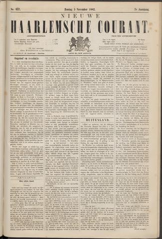 Nieuwe Haarlemsche Courant 1882-11-05