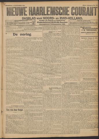 Nieuwe Haarlemsche Courant 1914-11-09